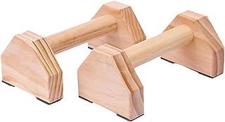 プレスアップバーペアの種類フィットネスプッシュアップ体育館運動訓練箱H字型の木造資料ハンドスタンド平行なロッド二重棒 (Color : Style one)