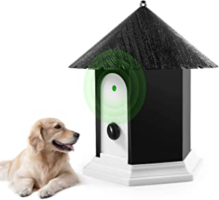 Mumoo Bear Anti Barking Device Ultrasonic Dog Bark Controller in Birdhouse Shape