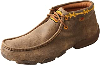 Twisted X Western Boot Cowboy Men DRIVING MOCS D TOE, Bomber, Gold