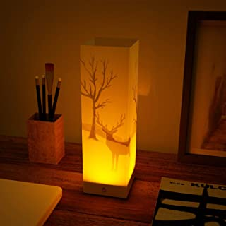 ABZON LED Night Lights Bedside Night Lamps Touch Sensor Lamp 3D Image Table Lamp Decor for Bedroom Livingroom Battery or USB Powered.