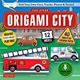 Origami City Ebook: Build Your Own Cars, Trucks, Planes & Trains!: Contains Full Color 48 Page Origami Book, 12 Projects and Printable Origami Papers (English Edition)