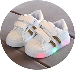 XUANOU Kid Baby Boys Girls Bling Sport Running Breathable Mesh Sneaker Casual Shoes