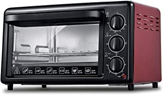 Toaster oven STBD Mini Horno EléCtrico De Mesa De 19l, FuncióN De CoccióN MultifuncióN, Tubo De Calentamiento De Acero Inoxidable, Control De Temperatura Ajustable Y Temporizador -1200w Rojo/Amarillo