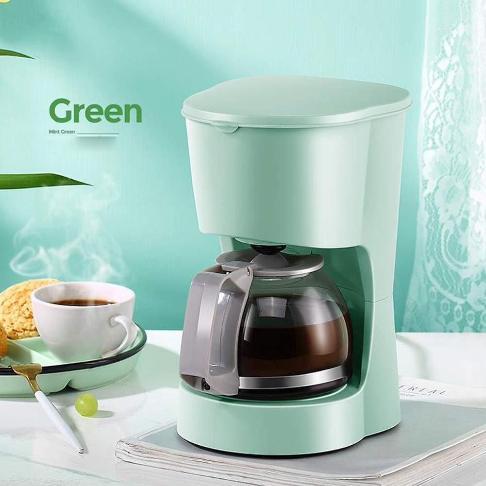 Jsmhh Máquina de café Inicio de pequeños de América automático por Goteo Cafetera Shake Buenos Productos, café/té de Doble Uso, Verde (Color : Green): Amazon.es: Hogar