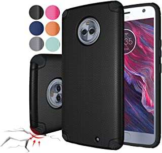 Rebex Moto X4 Case Cover Shock-Absorption Anti-Fingerprint Non Slip Built-in Magnetic Metal Plate Case,Ultra Thin Lightweight Slim Protective Cases Cover for Motorola Moto X4 (Black)