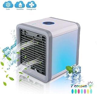 Parillas HZY Aire Acondicionado portátil Mini Ventilador del evaporador de Aire de refrigeración del humidificador de 7 Colores LED 3 Velocidad del Viento Ministerio del Interior