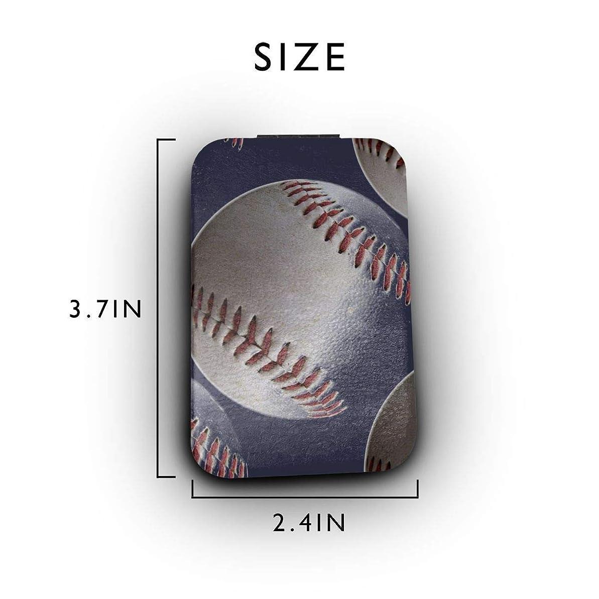 誕生記録の面では野球 運動 紺色 携帯ミラー 手鏡 化粧鏡 ミニ化粧鏡 3倍拡大鏡+等倍鏡 両面化粧鏡 角型 携帯型 折り畳み式 コンパクト鏡 外出に 持ち運び便利 超軽量 おしゃれ 9.8X6.6CM