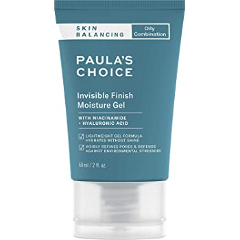 Paula's Choice SKIN BALANCING Invisible Finish Gel Moisturizer with Niacinamide & Hyaluronic Acid, Large Pores & Oily Skin, 2 Ounce. PACKAGING MAY VARY.