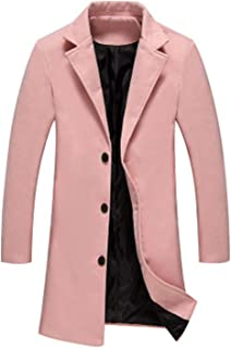 Twinkle UU Jackets New Winter Men Solid Color Single Breasted Trench Coat/Men Woolen Cloth Coat Large Size 5XL