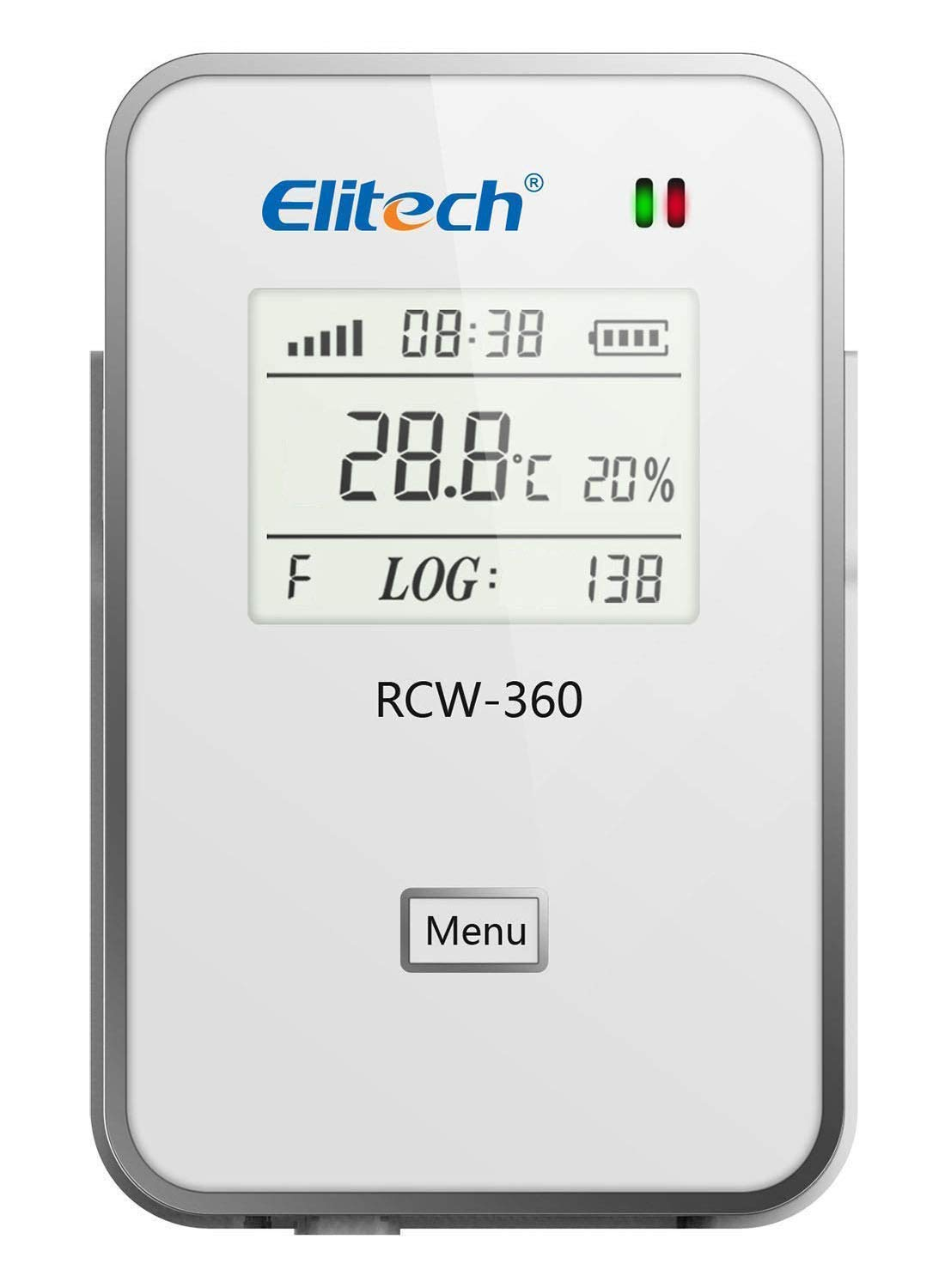Elitech RCW-360 WiFi Temperature and Humidity Data Logger Wireless Remote Monitor Cloud Data Storage IP 64 Protection, Email/SMS/App Alarm