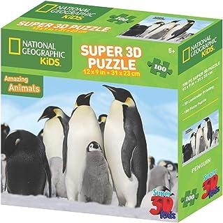 NAT GEO Prime 3D Penguin Puzzle Zipper Box, 31 x 23 cm, 13557, 408 Pieces