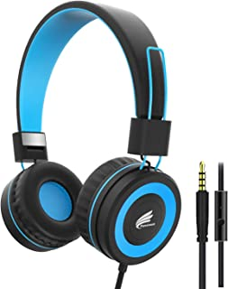 Fanxieast Kids Headphones Foldable Wired Over Ear Headphone for Kids/Children/Toddlers/Boy/Girl - 3.5mm Jack/ 95 dB Volume Limited,with Microphone