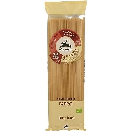 ALCE NERO(アルチェネロ) 有機 スペルト小麦 スパゲッティ 500g (オーガニック イタリア産 古代小麦 太さ1.8mm ゆで時間11分)