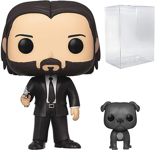 John Wick in Black Suit with Dog Funko POP John Wik