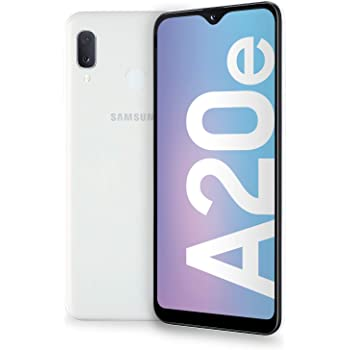 "Samsung Galaxy A20e Smartphone, Display 5.8"" HD+, 32 GB Espandibili, RAM 3 GB, Batteria 3000 mAh, 4G, Dual SIM, Android 9 Pie, [Versione Italiana], White"