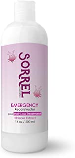 EMERGENCY RECONSTRUCTOR plus HAIR LOSS TREATMENT 16oz By Sorrel Cosmetics Tratamiento Emergencia Capilar Hibiscus Extract Polymedic Restore Repair Dry Breakage Damaged No Salt Sulfate Paraben