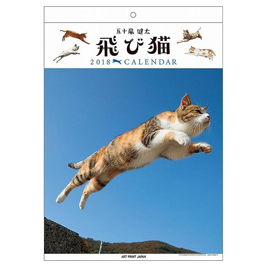故国構成するマーカーアートプリントジャパン 2018年 飛び猫カレンダー No.042 1000093375