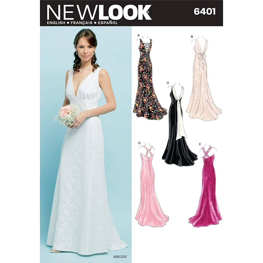 New Look Sewing Pattern 6401 Misses Special Occasion Dresses, Size A (8-10-12-14-16-18)