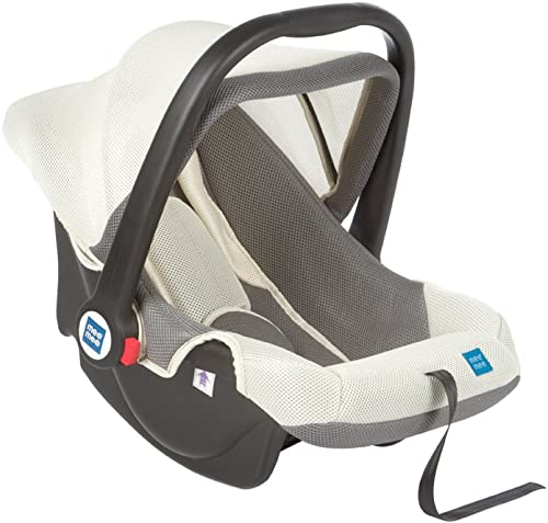 Mee Mee Baby Car Seat Cum Carry Cot with Thick Cushioned Seat (Light Gray)