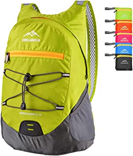 Peicees Medium Packable Shoulder Backpack Lightweight Hiking Daypacks Casual Foldable Camping Outdoor Bag for Women and Men