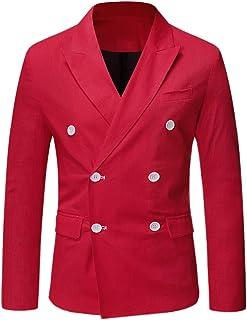 Lars Amadeus Men's Casual Bussiness Suit Sport Coats Slim Fit Double Breast Dress Blazer