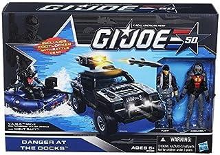 G.I. Joe 50th Anniversary Danger at the Docks Toys R Us Exclusive with Cobra Night Raft, VAMP Mark II Attack Vehicle (Grey...