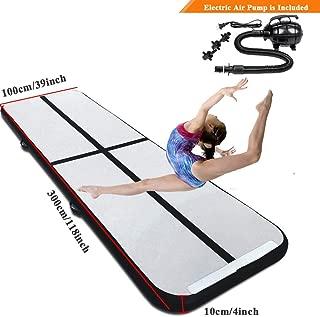 Matladin 10'x3.3' Gymnastics Exercise Mat Inflatable Tumbling Mats, Air Tumbling Track Electric Pump Home use, Gymnastics Training, Beach, Yoga, Water