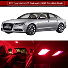 LED Interior Lights 20pcs Red Package Kit Accessories Replacement for 2005-2012 Audi A6 S6 C6