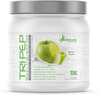 Metabolic Nutrition - TRIPEP - Tri-Peptide Branch Chain Amino Acid, BCAA Powder, Pre Intra Post Workout Supplement, Green ...
