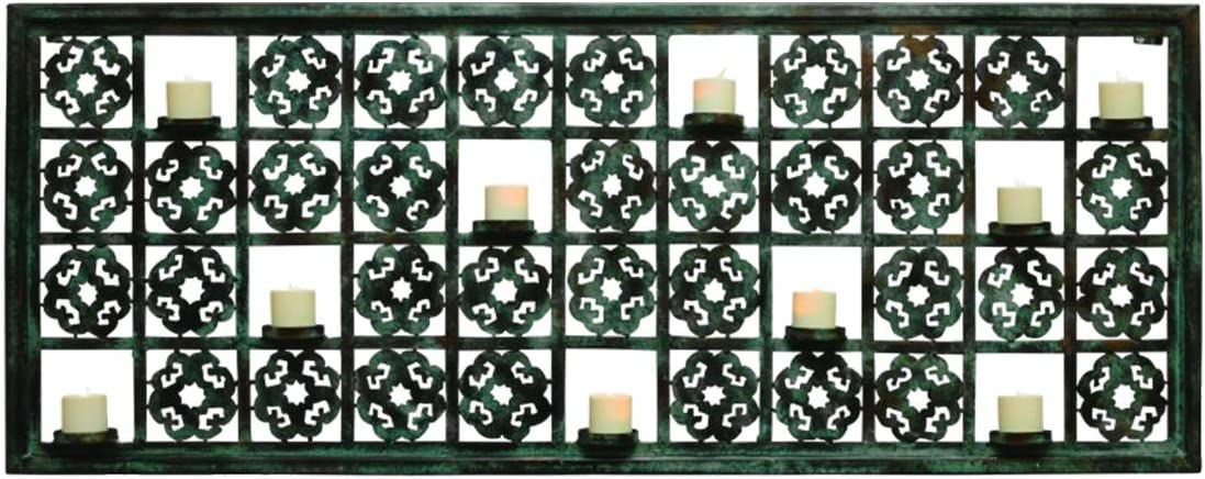 MY SWANKY Shipping included HOME Cutout Gray Green Candle Votive Mail order Holder Wall Ir 10