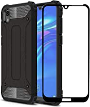FaDream for Huawei Y5 2019 /Honor 8S Case, 2 in 1 Shockproof Hybrid Dual Layer Heavy Duty Protective Cover with Tempered G...