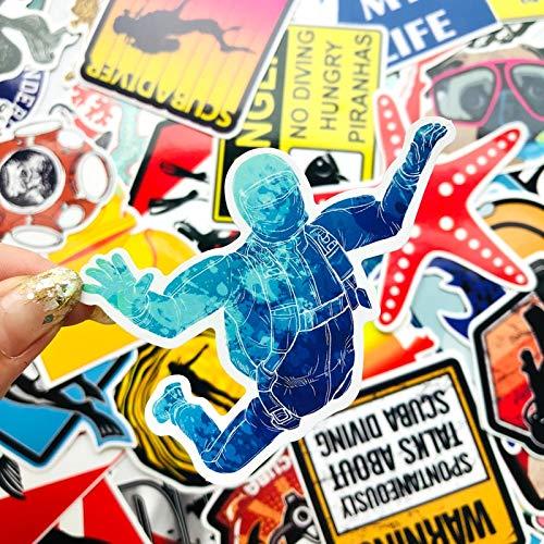 BLOUR 60pcs lustige vsco Mädchen TauchenSeestern Aufkleber Meer Für Koffer Laptop Skateboard Aufkleber Vinyl wasserdichte Abziehbilder