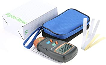 Handheld Digital Tachometer Set with Blue Bag, Non-Contact Digital LCD Photo Tachometer,Motor Speed Gauge Rotational Record Tester,Mini RPM Tester Meter for Motor,Wheels,Lathe,Electrical Fan
