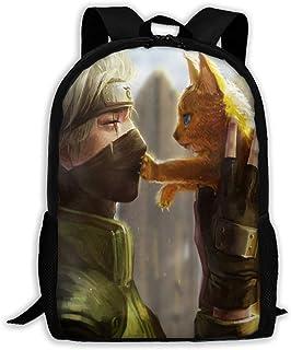 Naruto Mochila Juveniles Mochila Escolar Casual Bolsa Backpack por Hombres Mujeres,Tamaño 43X28X16Cm