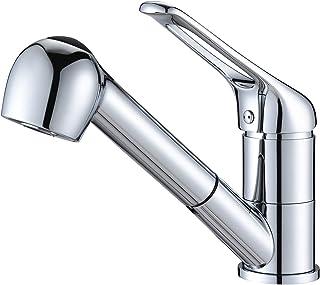 Auralum klassische Küchenarmatur ausziehbar mit Dual-Spülbrause, Wasserhahn Küche 360° schwenkbar Spültischarmatur Hochdruck Armatur Einhandmischer Mischbatterie für Spülbecken
