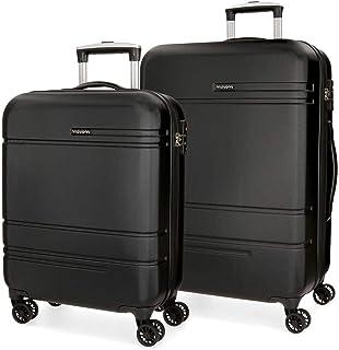Movom Galaxy Luggage Set, 68 cm, 108 liters, Black (Negro)