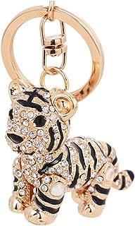 Mehrfabig Metall Tigerkopf Anhänger Schlüsselanhänger