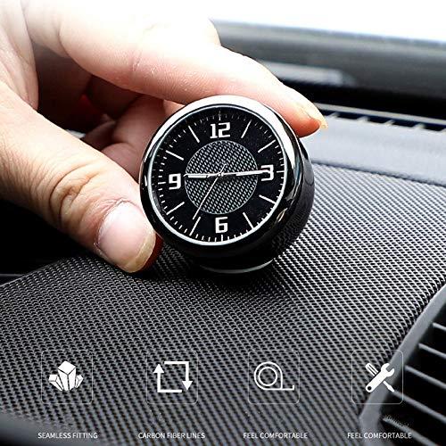HEZHOUJI Reloj de Coche Reloj de Cuarzo Reloj de decoración para Audi para BMW para Mercedes-Benz AMG para Jaguar para Lexus Ford Honda, para BMW M