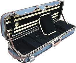 D'Luca CP05M-BLBL Heavy Duty Oblong Violin Case 4/4, Blue/Blue