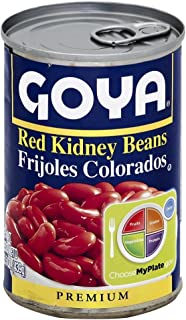 Puerto Rican Goya Red Kidney Beans, 15.5 Ounces (Pack of 6) Habichuelas Rojas
