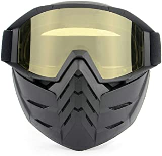Aooaz Retro Mask Goggles Full Face Goggles Motorcycle Off Road Windproof Dust Glasses