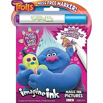 DreamWorks Trolls 24-Page Imagine Ink Magic Ink Pictures Bendon 68707