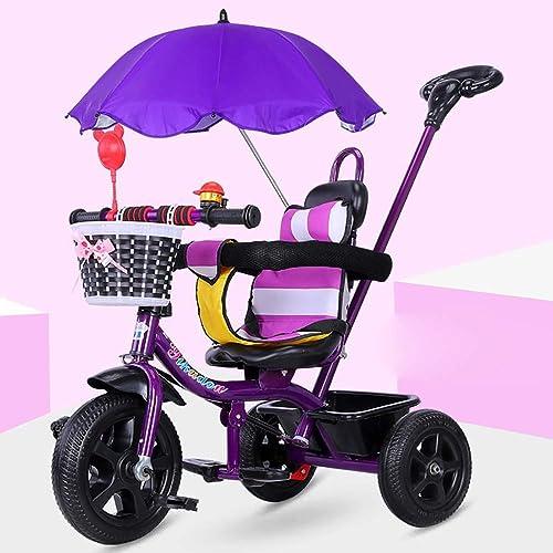 alta calidad JINHH Tríciclo,Carga Máxima 30 Kg Cesto Extraíble Barra en en en el Sillín y de empujeTriciclo Bebé Cubierta de Lluvia1-6 año, púrpura  hasta 42% de descuento