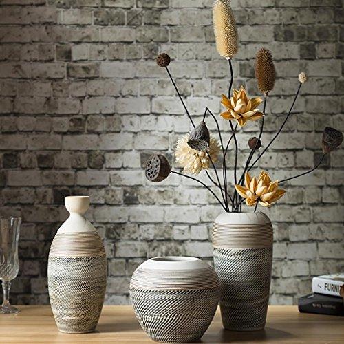 Vaas Meters Eenvoudige thuis accessoires keramische ornamenten driedelige woonkamer creatieve kunst TV kast kast