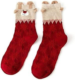 calcetines de Navidad para mujer, casuales, antideslizantes, transpirables, cómodos, de tubo medio