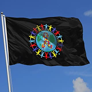 3x5 autism flag