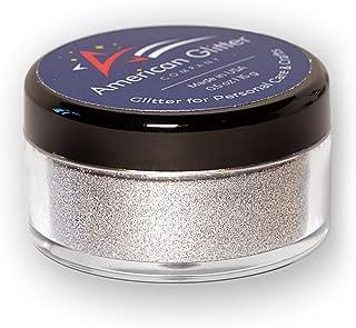 American Glitter Company Fine Cosmetic Grade Loose Glitter Powder - Nail Art, Face, Body Makeup - Made in USA - Silver, ne...