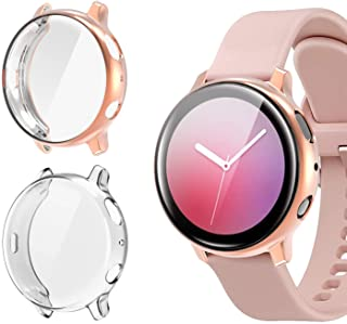 [2 Pack]Case for Samsung Galaxy Watch Active 2 44mm,All-Around TPU Anti-Scratch Flexible Screen Protector Case Soft Protec...