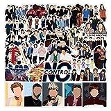 MXJFYY 50 Piezas One Direction Pegatinas para Niños, Niñas, Adolescentes, Coloridas Pegatinas Impermeables para Matraces, Portátiles, Teléfonos, Botellas de Agua, Bonitos Estéticos