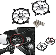 GUAIMI Audio Fairing Mount Speaker Grill Cover For Harley Davidson Touring Street Glide FL Trike 96-13